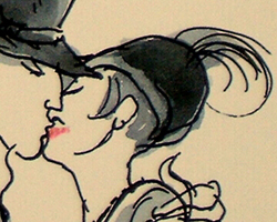 Kissing in hats