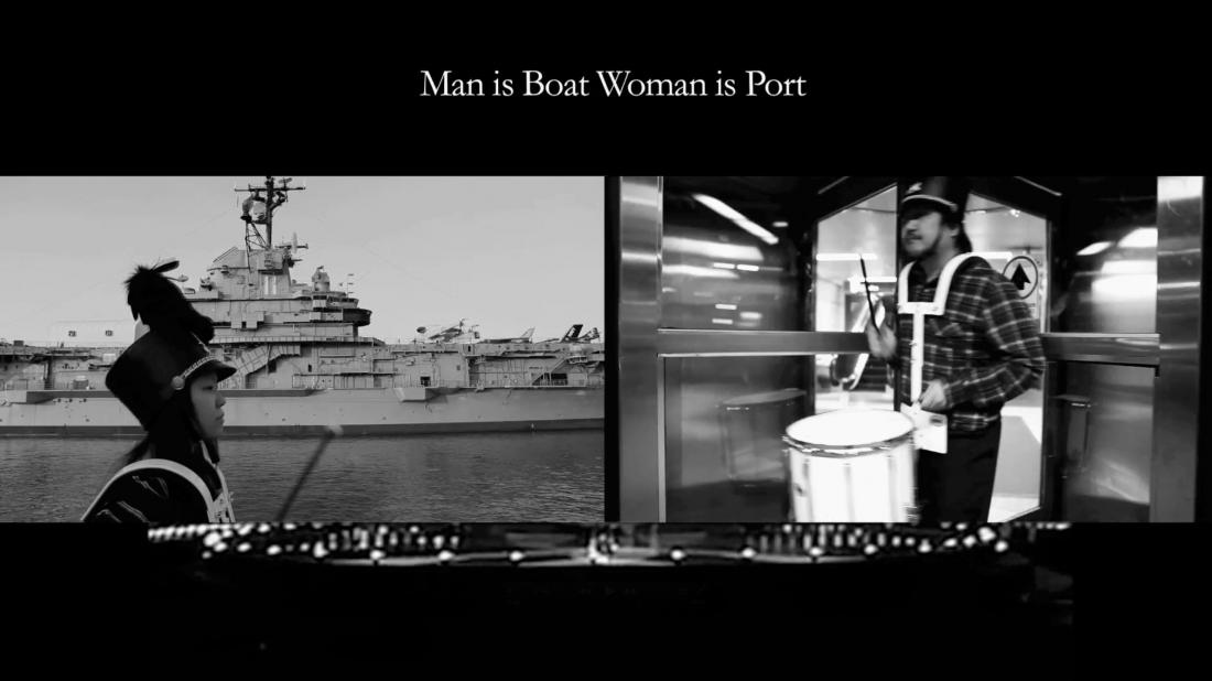 Man is boat woman is port